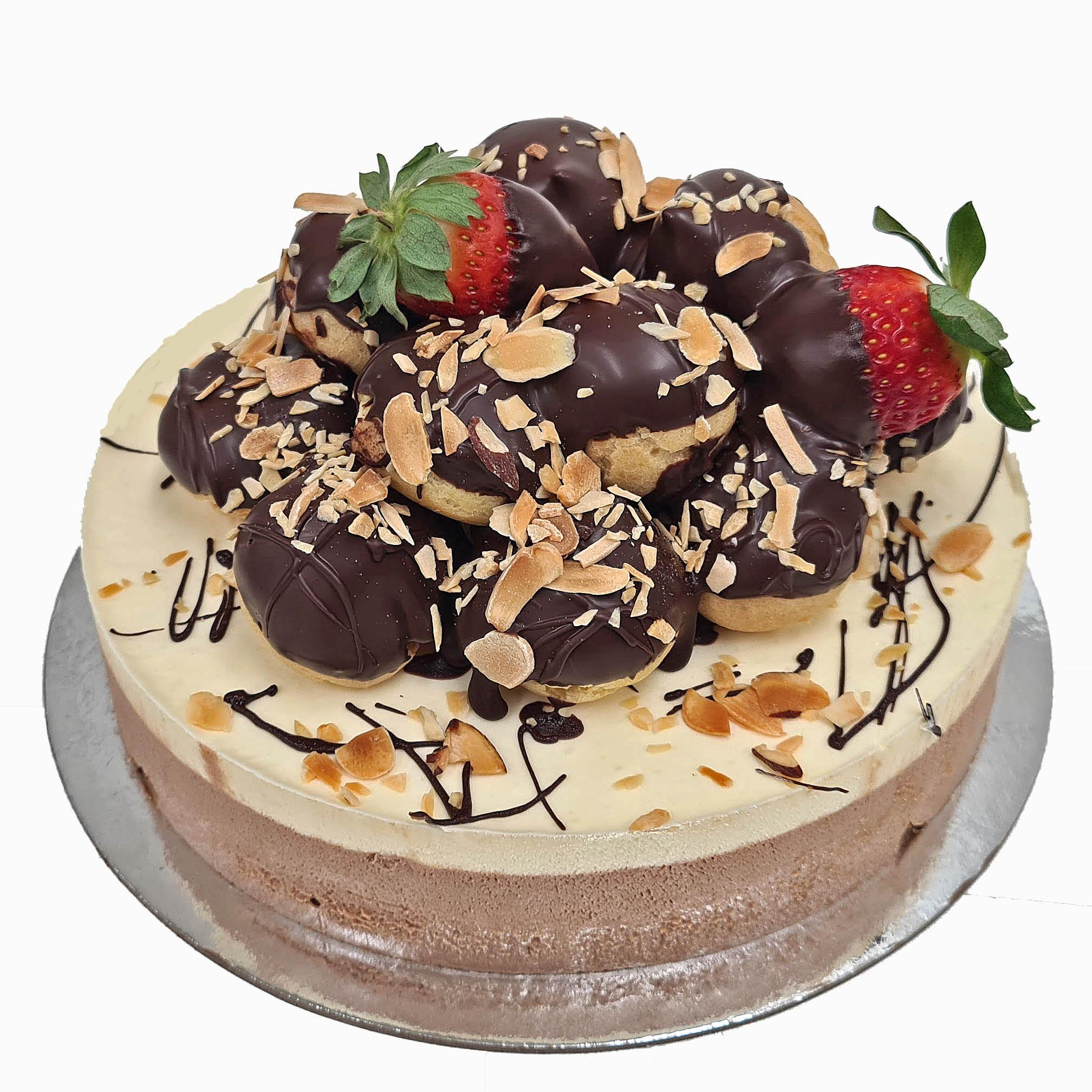 Continental Style Profiterole Cake