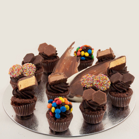 Assorted petit four cup cakes